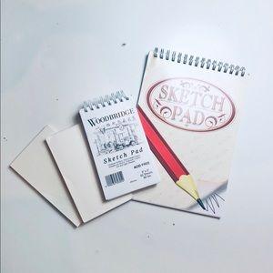 4 Notepads/Sketch Pads